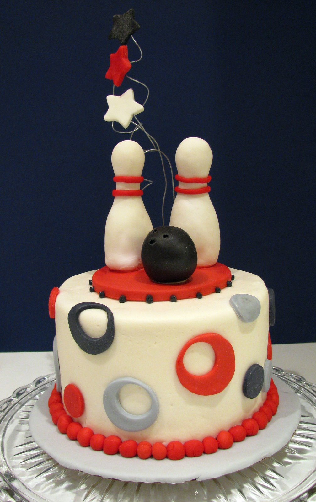Outstanding Bowling Party Cake Thecouturecakery Personalised Birthday Cards Veneteletsinfo