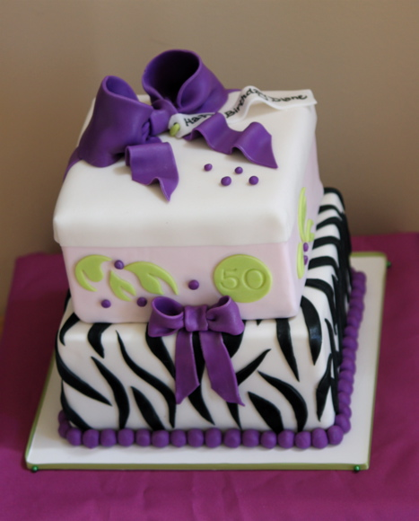 The Request Was For A 2 Tier Cake With Little Animal Print Thrown In So This Is What I Came Up