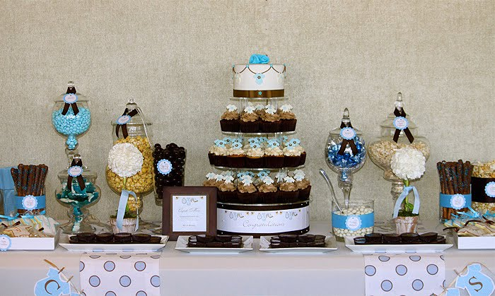 Twin S Brown Blue Baby Shower Thecouturecakery