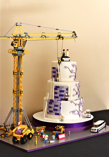 When I Met Lisa And James For Our Initial Consultation They Said Wanted To Incorporate A Lego Theme In Their Wedding Cake